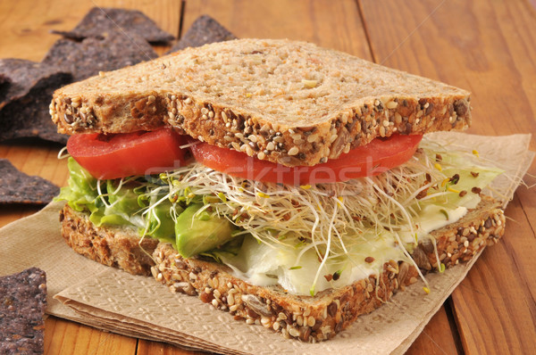 Healthy veggie sandwich Stock photo © MSPhotographic