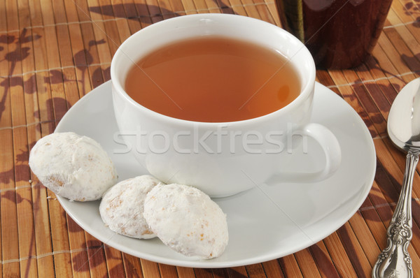 Tea and cookies Stock photo © MSPhotographic