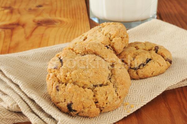 Сток-фото: шоколадом · чипа · Cookies · молоко · темно