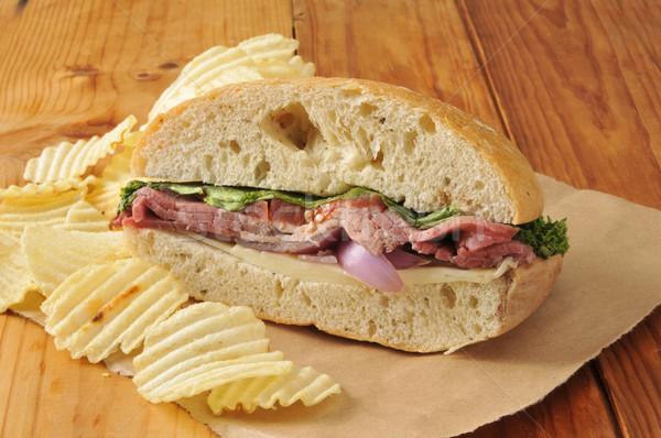 Gourmet roast beef sandwich Stock photo © MSPhotographic