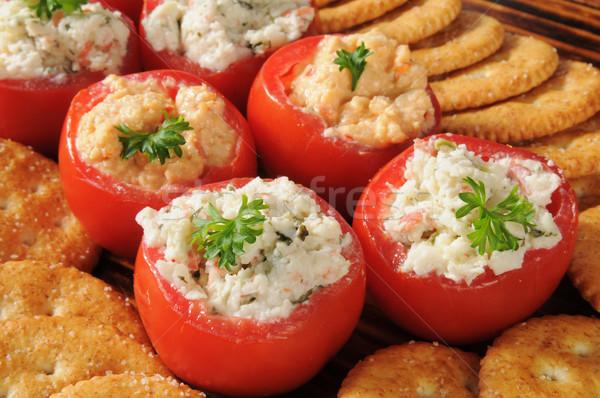 詰まった トマト パーティ カニ ほうれん草 ディップ ストックフォト © MSPhotographic
