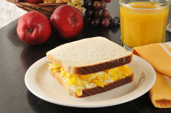 Scrambled egg sandwich Stock photo © MSPhotographic