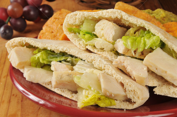 Chicken Caesar Pita Closeup Stock photo © MSPhotographic