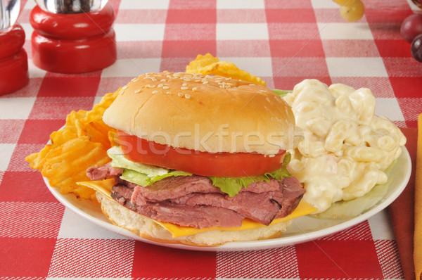 roast beef sandwich Stock photo © MSPhotographic