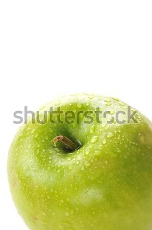 Nagyi alma közelkép harmat cseppek fehér Stock fotó © MSPhotographic