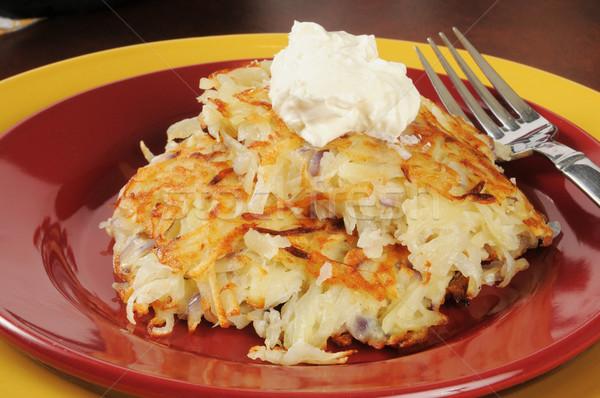 Patate panna acida primo piano crema formaggio alimentare Foto d'archivio © MSPhotographic