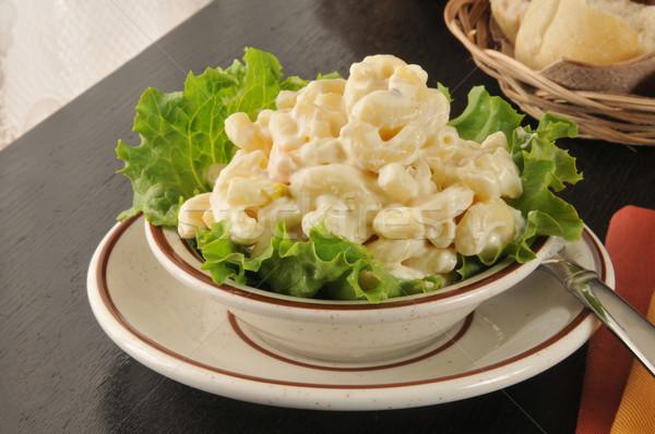 Kom macaroni salade klein diner Stockfoto © MSPhotographic
