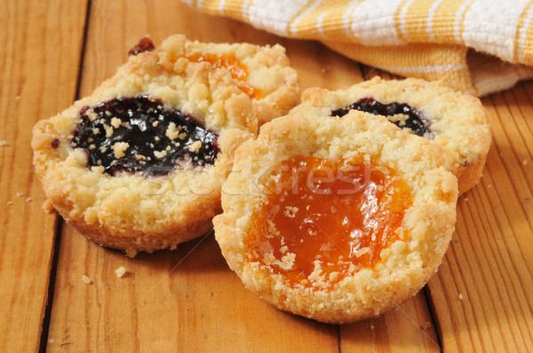 Jam filled shortbread cookies Stock photo © MSPhotographic