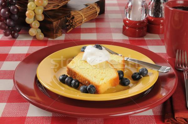 Blueberry shortcake Stock photo © MSPhotographic
