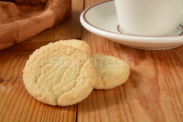 Sin gluten azúcar cookies taza café Foto stock © MSPhotographic