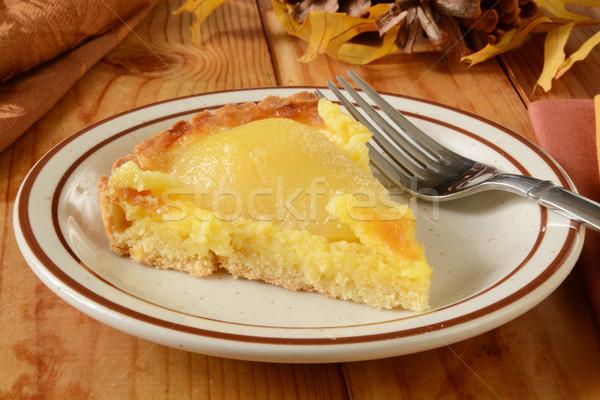 Slice of pear tarte Stock photo © MSPhotographic