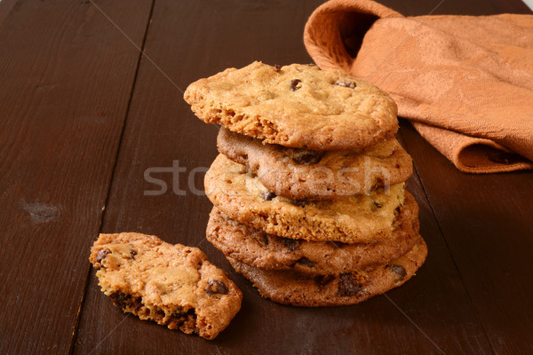 Maison chocolat puce cookies Photo stock © MSPhotographic