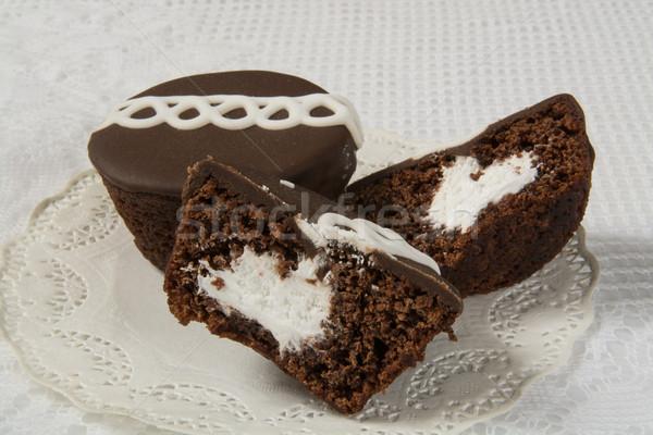 Cream filled cupcakes Stock photo © MSPhotographic