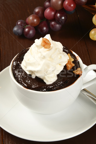 Chocolade pudding room voedsel donkere Stockfoto © MSPhotographic