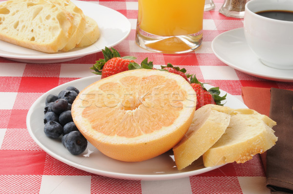 Healthy fruit breakfast Stock photo © MSPhotographic