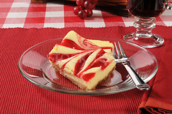Strawberry cheesecake cheesecake çilek gıda Stok fotoğraf © MSPhotographic
