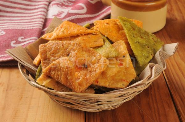 Vegetali tortilla chip basket Foto d'archivio © MSPhotographic