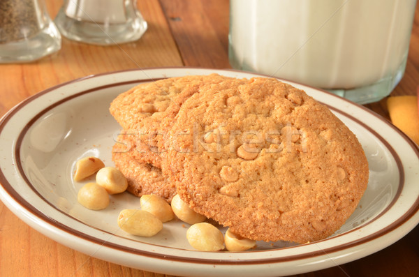 Peanut butter cookies and milk Stock photo © MSPhotographic