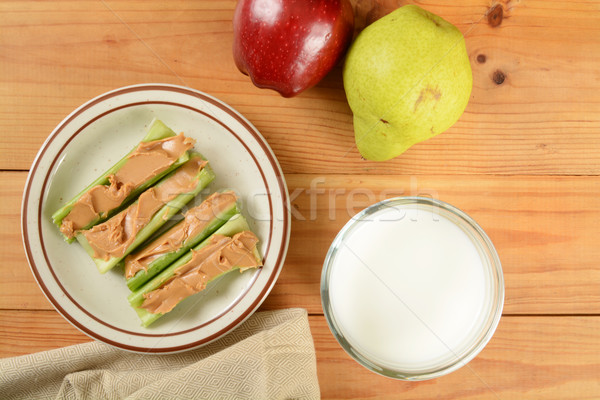 Celery sticks with peanut butter Stock photo © MSPhotographic