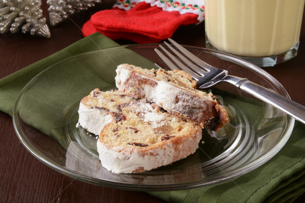 Christmas stollen and egg nog Stock photo © MSPhotographic