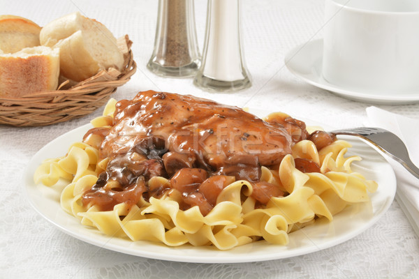 Coq Au Vin on Pasta Stock photo © MSPhotographic