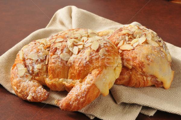Almond custard croissants Stock photo © MSPhotographic