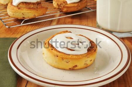 Hot cinnamon rolls Stock photo © MSPhotographic
