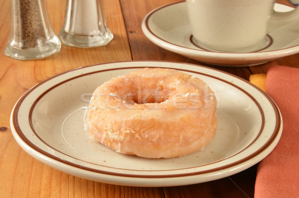 ドーナツ カップ コーヒー 表 ドリンク 砂糖 ストックフォト © MSPhotographic