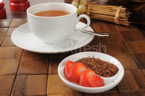 Strawberry flavored rooibos tea Stock photo © MSPhotographic