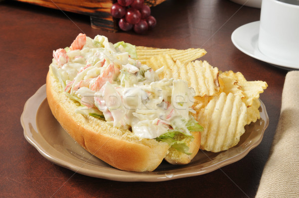 Seafood submarine sandwich Stock photo © MSPhotographic