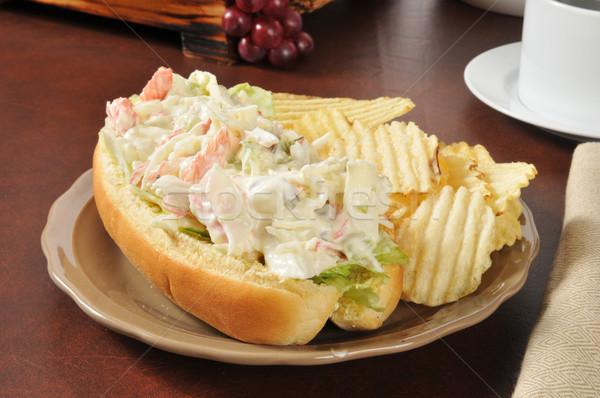 Tengeri hal tengeralattjáró szendvics rák felszolgált nyitva Stock fotó © MSPhotographic