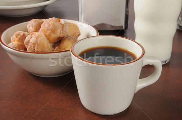 Foto d'archivio: Caffè · ciambella · Cup · ciotola · latte