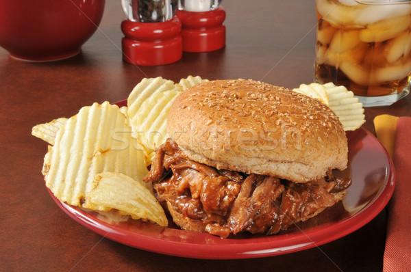 Pulled pork sandwich Stock photo © MSPhotographic