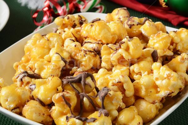 Chocolate caramel popcorn Stock photo © MSPhotographic