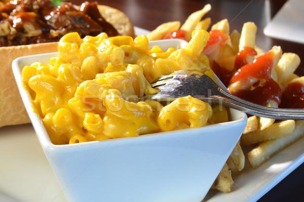 Macaroni and cheese closeup Stock photo © MSPhotographic