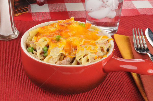 Tuna casserole in a stoneware crock Stock photo © MSPhotographic