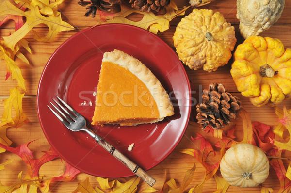 Stockfoto: Plakje · pompoen · taart · zoete · aardappel · artistiek · foto