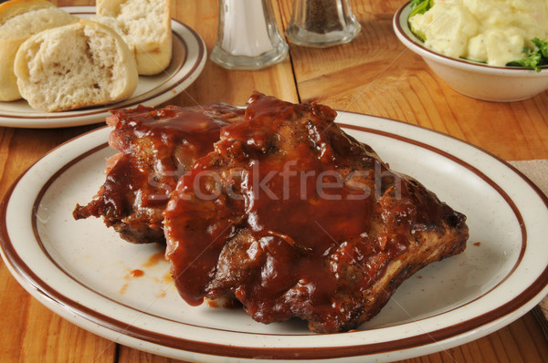 Barbecued ribs Stock photo © MSPhotographic