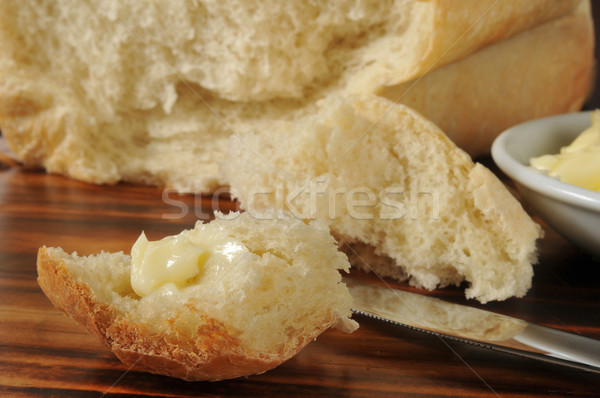 Piece of hot buttered bread Stock photo © MSPhotographic