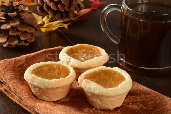 мини тыква пироги Кубок кофе праздник Сток-фото © MSPhotographic