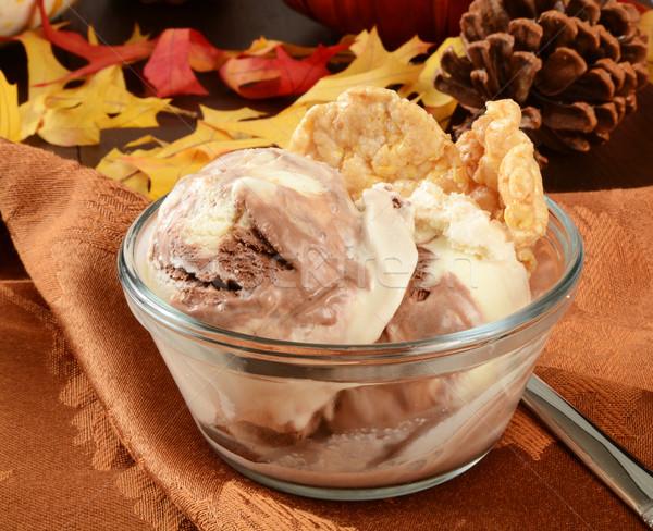Chocolate toffee ice cream Stock photo © MSPhotographic