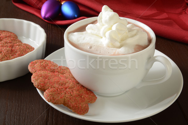 Christmas cookies and hot chocolate Stock photo © MSPhotographic