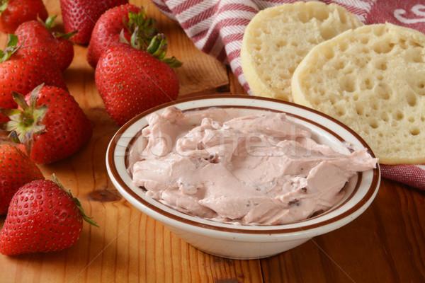 Strawberry cream cheese Stock photo © MSPhotographic
