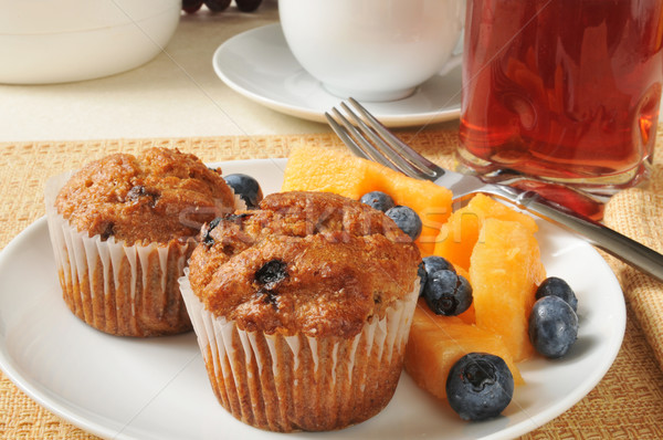 Bran muffins with fruit Stock photo © MSPhotographic