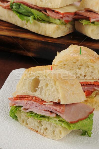 Włoski stylu podwodny kanapkę plastry Zdjęcia stock © MSPhotographic