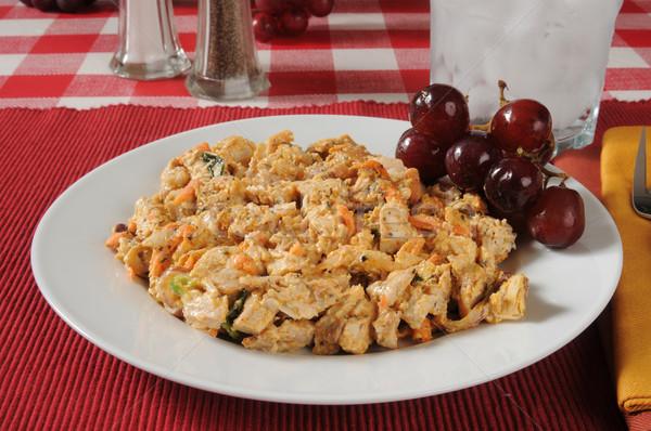 Salada de frango prato saudável naturalismo orgânico frango Foto stock © MSPhotographic
