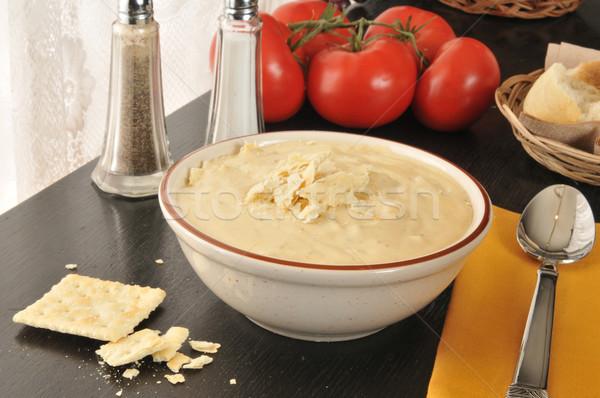 Photo stock: Brocoli · de · pomme · de · terre · fromages · bol · soupe · de · pommes · de · terre · soupe