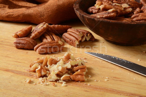 Chopped pecans Stock photo © MSPhotographic