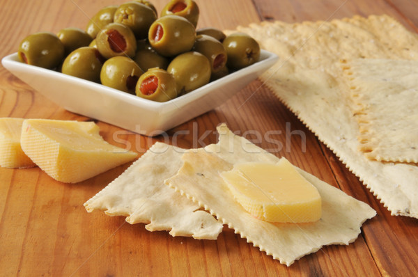 Gouda cheese with crackers Stock photo © MSPhotographic