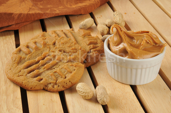Homemade peanut butter cookies Stock photo © MSPhotographic